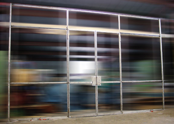 Minimalist Stainless Glass Doors 1