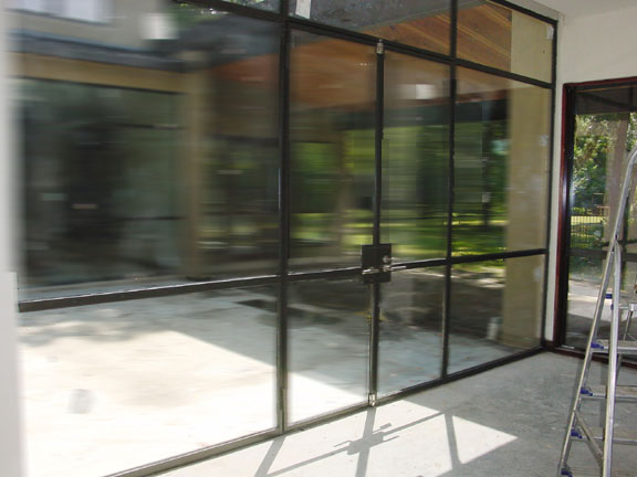 Minimalist Stainless Glass Doors  4