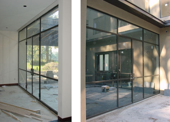 Minimalist Stainless Glass Doors 5