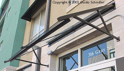 Schindler Metalworks Eye Works Steel Amp Glass Awnings