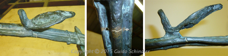 Giacometti Bronze Table Repair 2