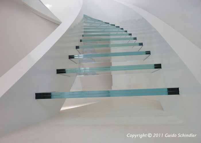 Metal & Glass Staircase 1