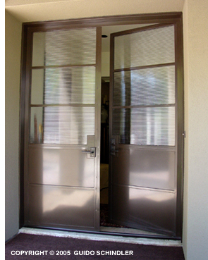 Metal & Glass Double Doors  3