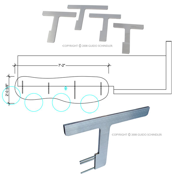Stainless T-Style Brackets 8