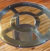 Round Stainless Table Base